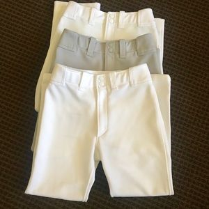 Bundle of 3 Mizuno Baseball Pants Youth XL